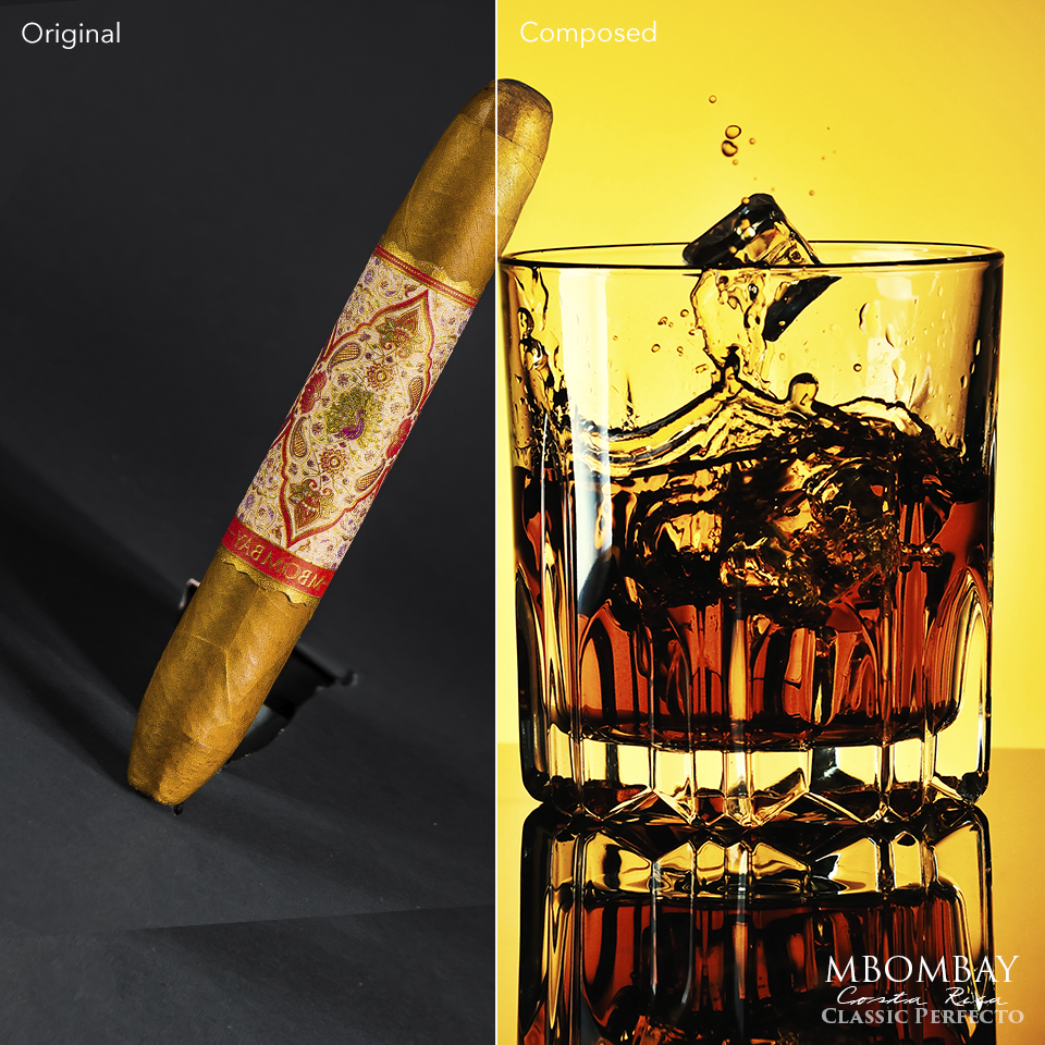 Cigar Composed on stock Background